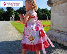 TEETIME DOTS Girls Dress; my little peaChick collection by FEENLAND