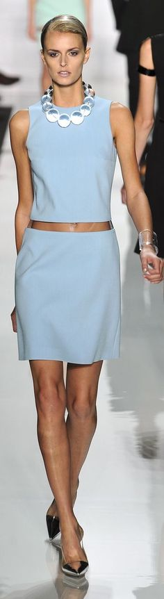 Michael Kors - cute summer shift with peek-a-boo waist in cornflower blue ... or is it periwinkle?