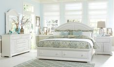 Summer House Oyster White Panel Storage Bedroom Set