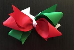 Christmas Loop Bows by CreationsByDMPN on Etsy