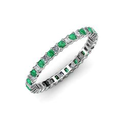 Your Personal Ejeweler..Sophisticated and mordenistic, this eternity band will give you an updated look with a classic design.This illuminating band features a perfect line of sparkling Square cut Emerald and princess cut Diamond in durable prong settings. This Square Prong Set Eternity band is going to be her jewel of delight. #Trijewels #Ejeweler #Eternity #Diamond #EternityRing #WeddingBand #EternityBand #Ring #WomenRing #Gift #Wedding #Engagement #Womenjewelry #AnniversaryRing #Wedding
