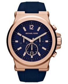 d537895d548 Men s Chronograph Dylan Navy Silicone Strap Watch 48mm MK8295. Acessórios  FemininosRelógios ...