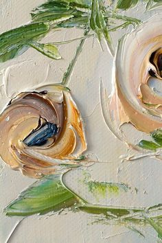 Items similar to Tea Rose Room Décor Original Oil Painting Canvas Flowers Roses Peony Bouquet White Brown Pale Gold Impasto Art Contemporary Palette Knife on Etsy Plant Painting, Oil Painting Flowers, Painting Canvas, Decoration Originale, Texture Art, Painting Inspiration, Flower Art, Collages, Maya