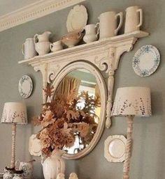 Diy Dresser Makeover, Mirror Makeover, Furniture Makeover, Furniture Projects, Diy Projects, Upcycled Furniture Before And After, Repurposed Furniture, Painted Furniture, Repurposed Items