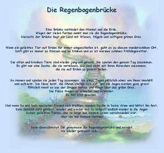 This is the rainbow bridge poem in German
