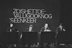 """1966 Zo is het toevallig ook nog eens een keer (VARA). Een satirisch Nederlands tvprogramma, dat van 1963 tot 1966 werd uitgezonden met Mies Bouwman, Gerard van het Reve, Dimitri Frenkel Frank, Yoka Berretty, Joop van Tijn en Rinus Ferdinandusse. De sketch """"Beeldreligie, een gebed tot het Beeld"""" (waarmee tv werd bedoeld), in de vorm van het christelijke Onzevader leidde tot verontwaardiging en kamervragen. Mies Bouwman, de publiekslieveling heeft vanwege bedreigingen het programma verlaten."""