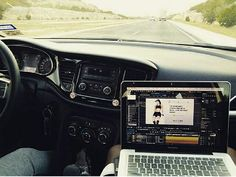 #throwback - working on @kaoirfitness #videos & #music on the way to #WestTexas   #kaoirfitness #kaoir #DUPID #macbook #mackbookpro #laptop #nowifi #roadtrip