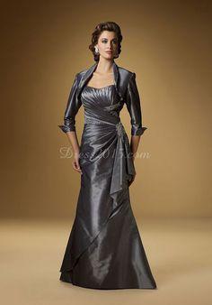 Strapless A-line Applique Ruffles Taffeta Mother Of The Bride Dress picture 1