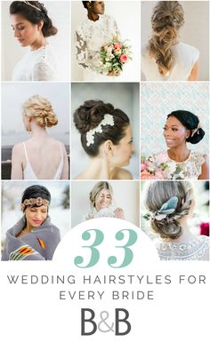 Check out these 33 wedding hairstyles for every bride, bridal hairdos, hair inspiration, wedding advice, see more on borrowedandblue.com!