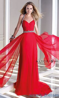 Long Sweetheart Open Back Gown by Alyce at SimplyDresses.com
