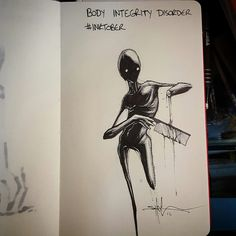 Body Integrity Disorder by Shawn Coss, #inktober series.