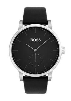 Hugo Boss Mens Essence Leather Strap Watch 3be9db7428
