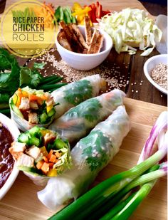 Discover Exactly how to prepare Chinese Food Appetiser Chicken Rice Paper Rolls, Chicken Spring Rolls, Veg Recipes, Asian Recipes, Cooking Recipes, Sushi Recipes, Delicious Recipes, Easy Recipes, Yummy Food