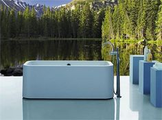 Nice contemporary soaking tub by Bellobagno on HomePortfolio