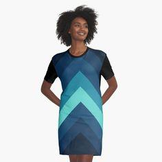Retro Chevron Pattern by ind3finite | Redbubble I Dress, Shirt Dress, T Shirt, Retro Pattern, Top Artists, Chiffon Tops, Chevron, My Arts, Short Sleeve Dresses