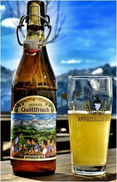 Appenzeller Quöllfrisch - the famous beer from Appenzell. Brewed in the Locher Brewery.