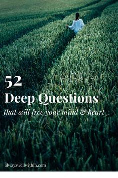 52 questions for journaling or reflection that will help you get to know your real self, challenge false beliefs, and get to know what you truly want in life. #journaling #journalingprompts #journalingquestions #selfdiscoveryquestions #selfdiscoveryjourney