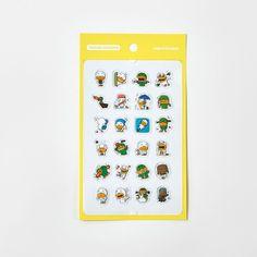 Korea Kakao Talk Friends Character Transparent Mini Sticker Tube ver2 #KakaoFriends #Transparentstickers