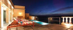 Come and relax by the pool and watch the unbelievable sunsets over the the Pacific Ocean.