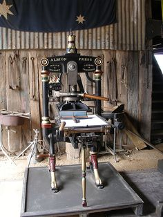 letterpress barn #printing #PrintingPresses
