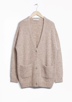 & Other Stories image 1 of Wool-Blend Cardigan in Beige Light