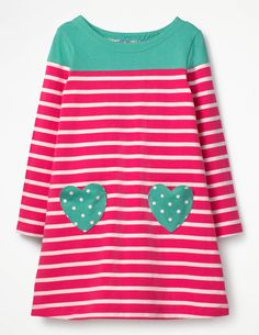 Heart Pocket Jersey Dress
