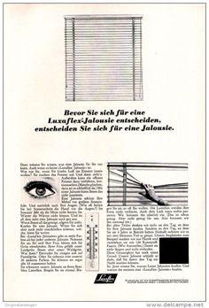 Original-Werbung/ Anzeige 1965 - LUXAFLEX JALOUSIE - ca. 180 x 240 mm