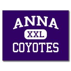 アナ-コヨーテ-アナの高等学校-アナテキサス州 葉書き