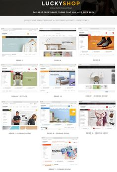 LuckyShop is a modern, clean and professional #Prestashop #Theme with 9+ homepage #layouts for multipurpose eCommerce website. #Download Now!
