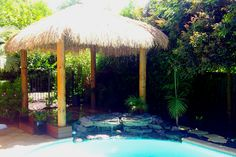 Bali Huts are traditional balinese thatch roofs made from an environmentally friendly and renewable harvest material; alang alang grass. Bali Huts are easy to maintain, clean and can get up to 15 degrees cooler in the summer months. They will last for years and during winter, the thatch roof acts like a natural insulator, making it a perfect outdoor gazebo all year round. Bali huts create a tropical look and feel and turn your backyard into the perfect holiday destination.