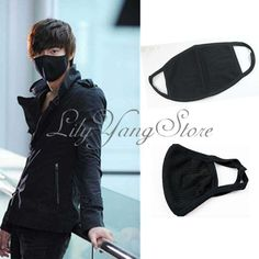 Unisex Black Face Anti-Dust Reusable Cotton Mask Mouth Muffle For Winter Soldier Costume
