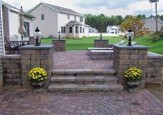 raised paver patios in an l shaped space   KB Construction Group is a full service complete construction and ...