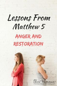 Continuing our bible study of Matthew 5 we learn how  Jesus wants us to treat our enemies as we deal with anger and restoration. We shall not be hypocrites. Join me at http://TerriHamman.com
