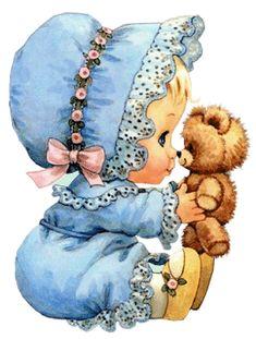 Sandra fazendo arte: Figuras para decoupage - bebês - por Ruth Morehead