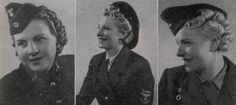 """How to wear the hair with uniforms. From January 15, 1942 publication of """"Uniformen-Markt"""" Detail close up"""
