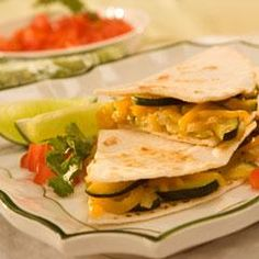 Cheesy Veggie Quesadillas - I Can't Believe It's Not Butter! Cream Style Corn, Quesadillas, Stuffed Green Peppers, Perfect Food, Quick Meals, Get Healthy, Main Dishes, Veggies, Favorite Recipes