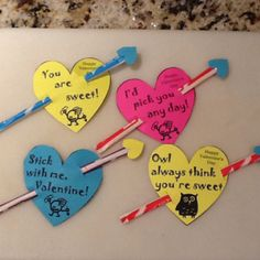 Pixie stix valentines for Ian. He loved helping to make them (and eating a few along the way!).