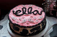 Sassyfrass Studios - Pink Western Baby Shower Cake