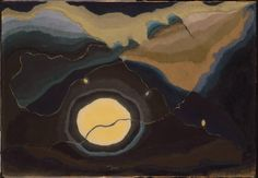 """Me and the Moon"" by Arthur Dove. See the wonderful essay by Jennifer Settler Parsons; see website. Phillips Collection."