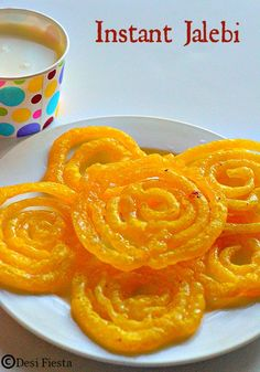 Jalebi Recipe Easy Indian Dessert Recipes, Indian Desserts, Indian Sweets, Sweets Recipes, Indian Food Recipes, Vegetarian Cooking, Vegetarian Recipes, Coconut Burfi, Burfi Recipe