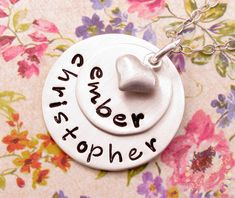 Personalized Necklace . Hand Stamped Jewelry