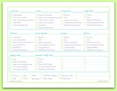 free printable, room by room cleaning schedule and checklist checklist | ScatteredSquirrel.com