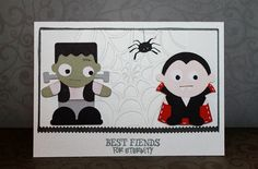 Best Fiends for Eternity - Halloween card using Joy'sLife.com Halloween Puns stamp set
