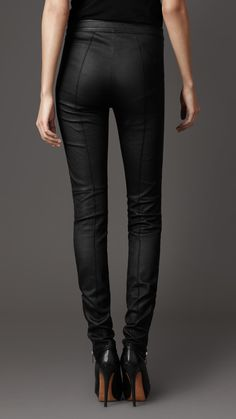 63418343046 SLIM FIT LEATHER TROUSERS Leather Trousers