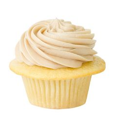 """Maple"" Golden Buttermilk Cupcake with Maple Icing"
