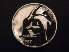 Vader obv Hobo Nickel, Buffalo, Coins, Carving, Unique, Art, Art Background, Rooms, Wood Carvings