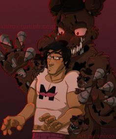 Mark and Nightmare Freddy (might I add that Mark looks pretty hot in this photo ;* )