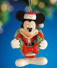 Lenox Disney Ornaments are among the hoards I've collected Christmas Story Books, Christmas Images, Christmas Holidays, Christmas Wreaths, Lenox Christmas Ornaments, Disney Ornaments, Mickey And Minnie Love, Mickey Mouse Christmas, Merry