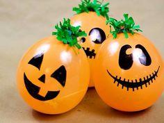 Easy pumpkin DIY with balloons