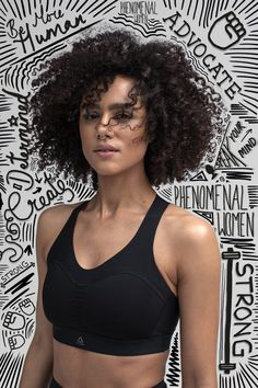"""In the Reebok portrait, Game of Thrones actress Nathalie Emmanuel makes her purpose clear: she is one of many """"phenomenal women."""" Her photo also Graphic Design Trends, Graphic Design Posters, Graphic Design Inspiration, Design Web, Graphic Designers, Photography Illustration, Photo Illustration, Photomontage, Doodle On Photo"""